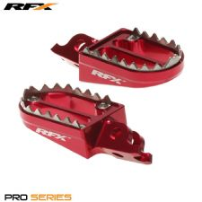 New RFX Shark Teeth Footpegs CR CRF 125 150 250 450 R X 02-16 CRF 250 L Pegs